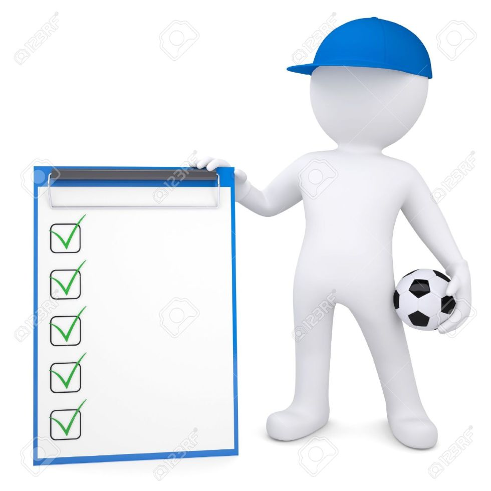 19653467-3d-white-man-with-soccer-ball-and-checklist-isolated-render-on-a-white-background-stock-photo